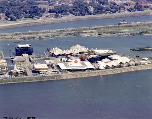 Aerial View of Canada to Quebec Pavilions
